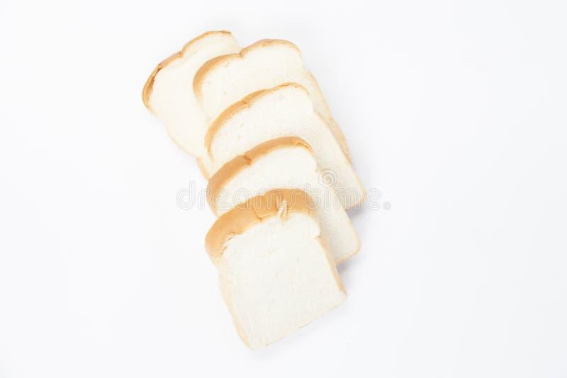 在白色背景的切的†‹â€ ‹面包 免版税库存照片