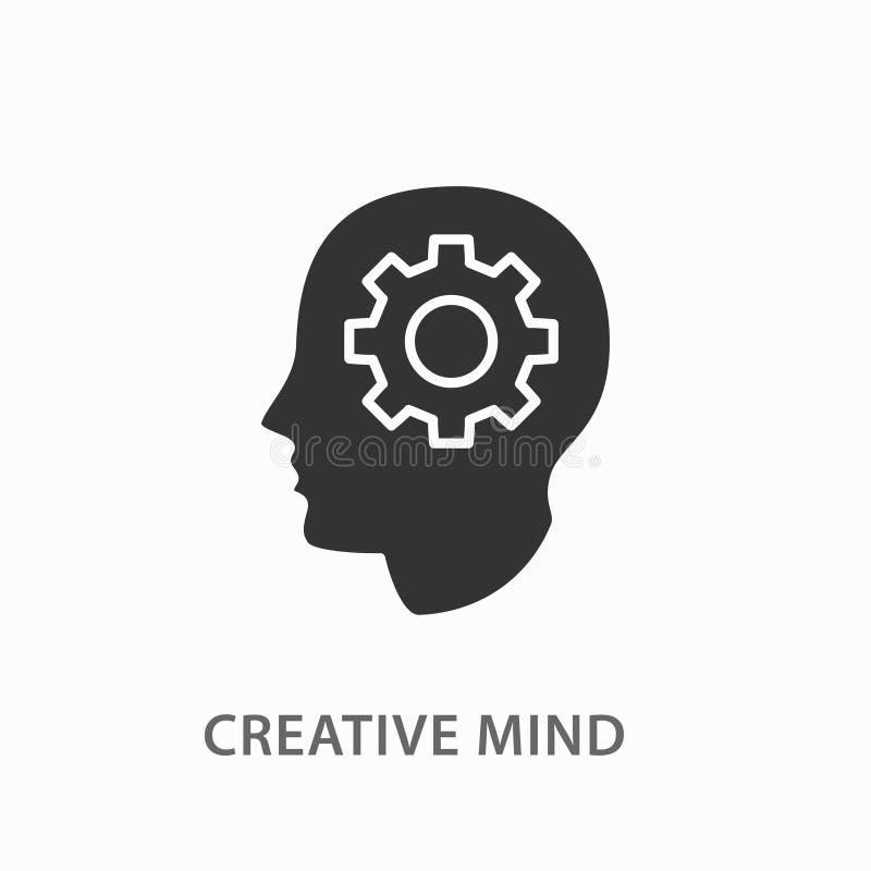 在白色背景的创造性的脑子象 皇族释放例证