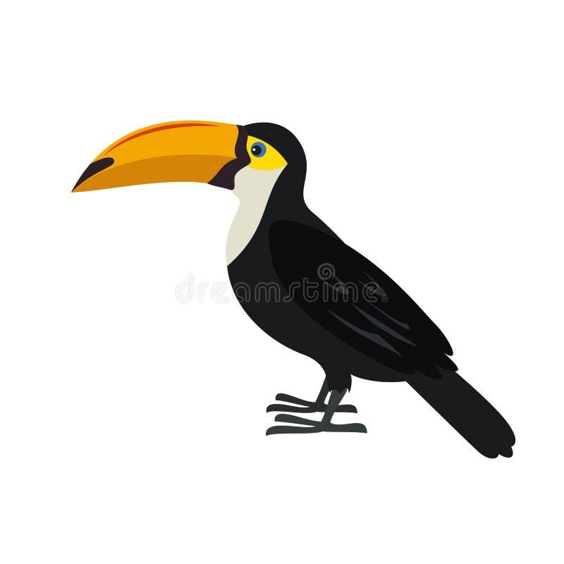 在白色背景的动画片toucan象 皇族释放例证
