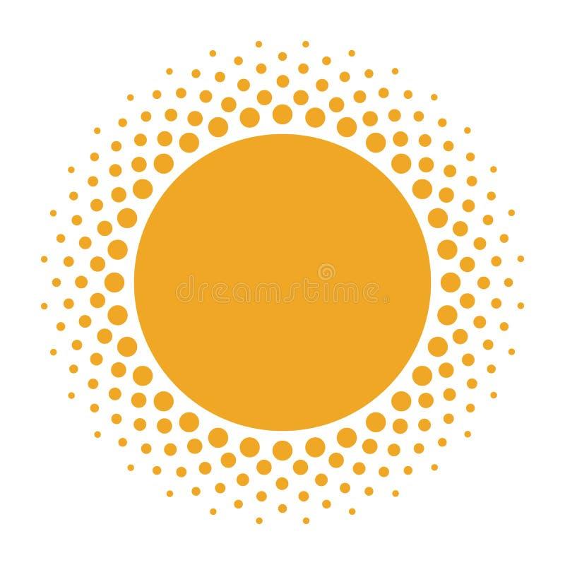 在白色背景的半音太阳形状 皇族释放例证
