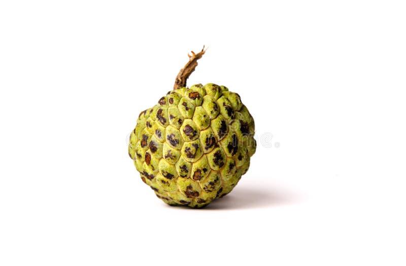 在白色背景的南美番荔枝果子 免版税库存图片