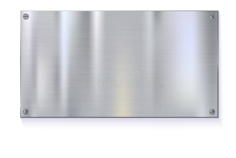 在白色背景的发光的掠过的金属片横幅 皇族释放例证