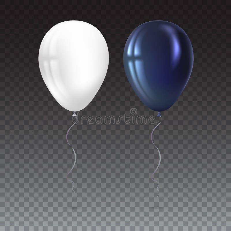 在白色背景的可膨胀的空气飞行气球 向量例证