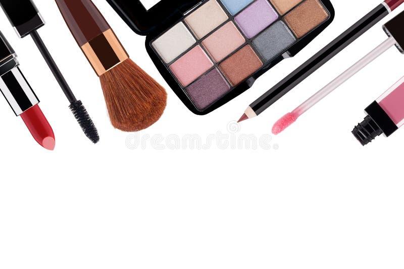 各种各样的化妆用品 免版税库存图片