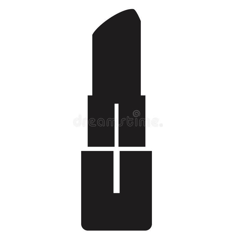 在白色背景的唇膏象 平的样式 您的网站设计的唇膏象,商标,应用程序,UI 化妆标志 唇膏 库存例证