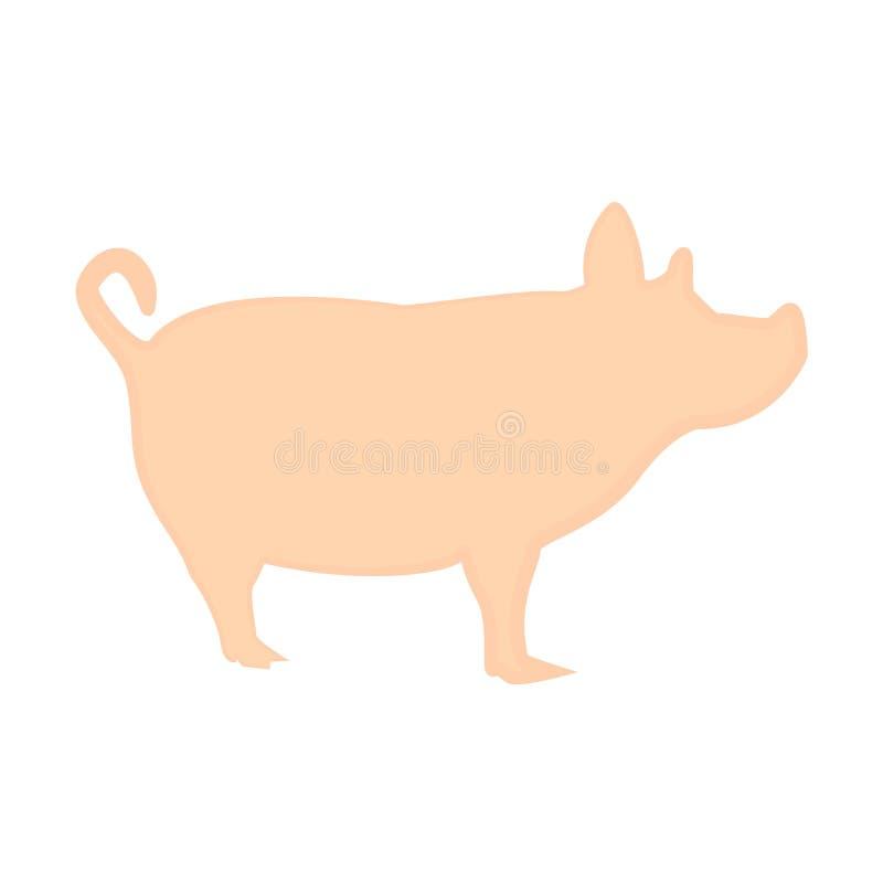 在白色背景的壮观的猪桃红色设计 向量例证