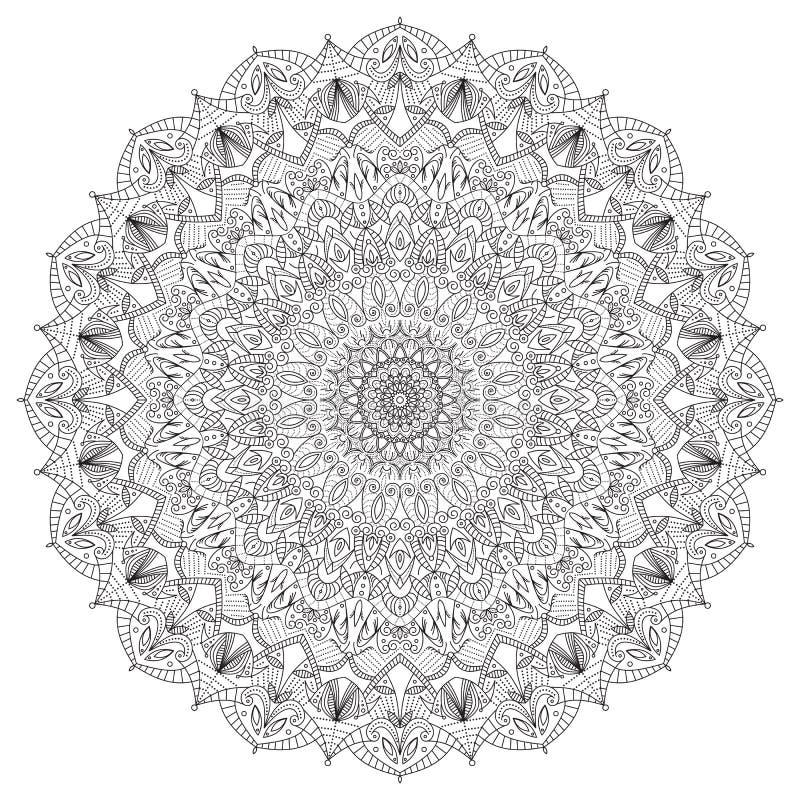 在白色背景的复杂详细的黑坛场 皇族释放例证