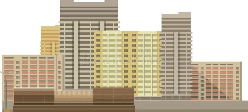 在白色背景的大厦 库存例证