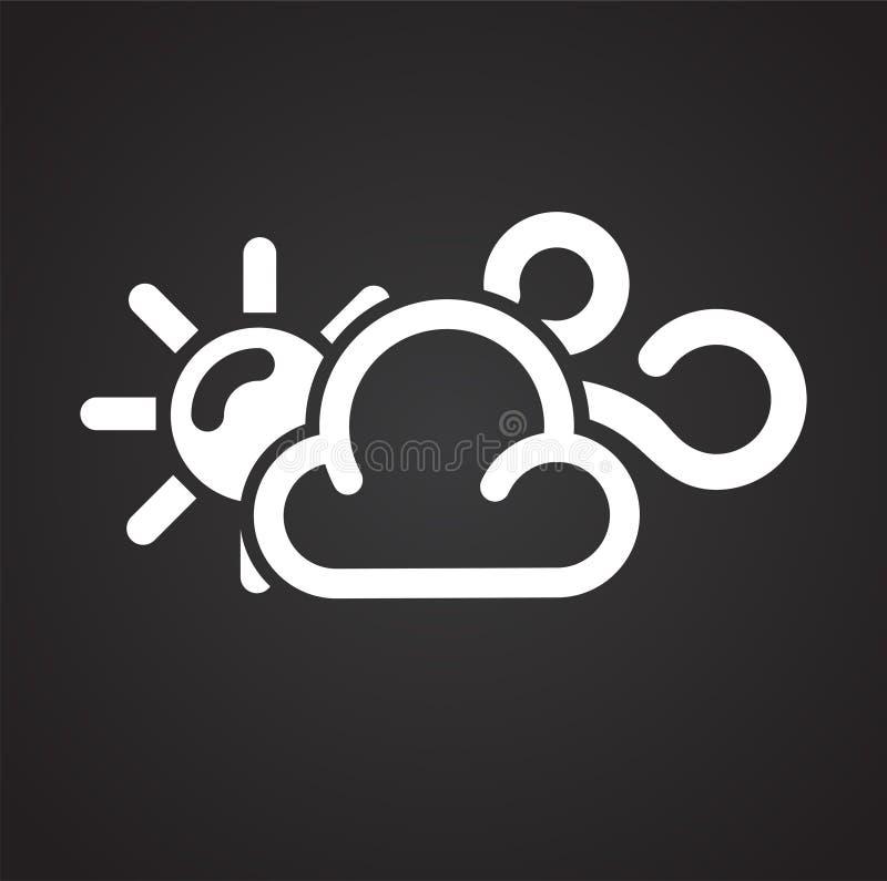 在白色背景的天气有风象图表和网络设计的,现代简单的传染媒介标志 背景蓝色颜色概念互联网 时髦标志为 向量例证
