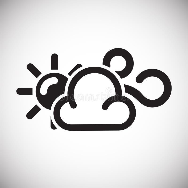 在白色背景的天气有风象图表和网络设计的,现代简单的传染媒介标志 背景蓝色颜色概念互联网 时髦标志为 皇族释放例证