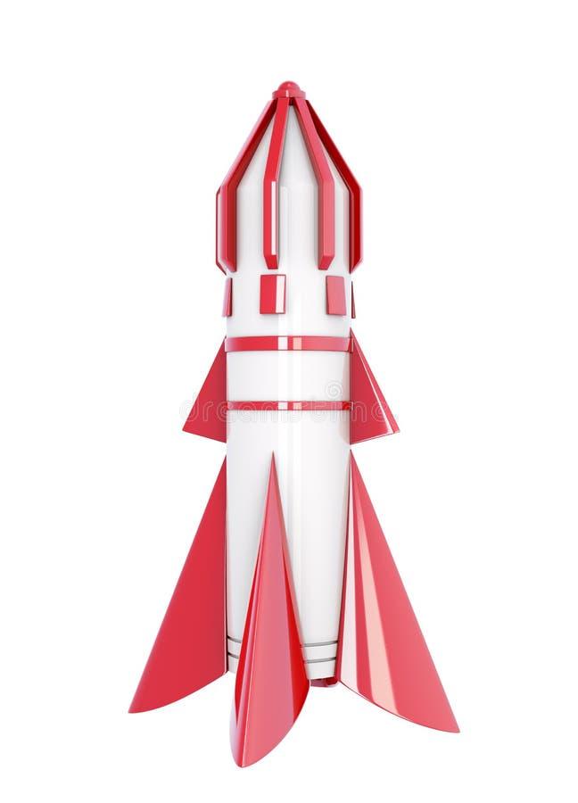 在白色背景的太空飞船 3d翻译 库存例证