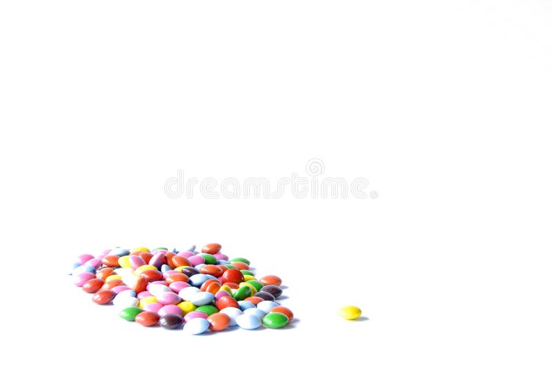 在白色背景的婴孩糖果 免版税库存图片