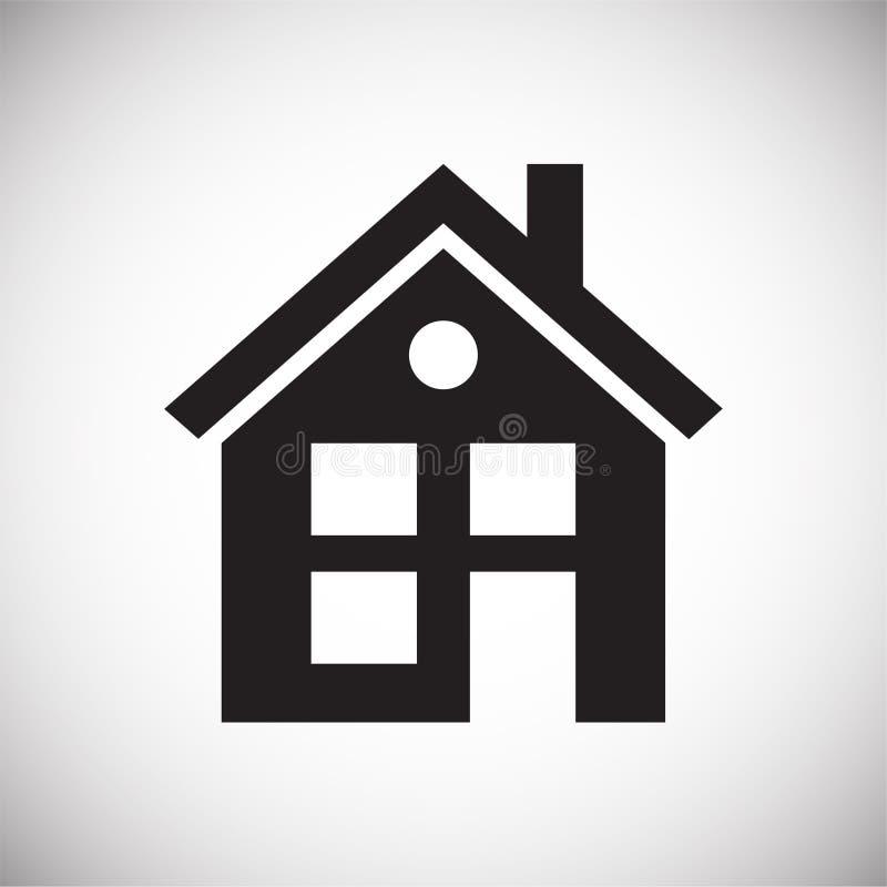 在白色背景的家庭象图表和网络设计的,现代简单的传染媒介标志 背景蓝色颜色概念互联网 网站的时髦标志 库存例证