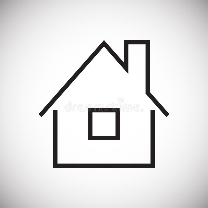 在白色背景的家庭象图表和网络设计的,现代简单的传染媒介标志 背景蓝色颜色概念互联网 网站的时髦标志 向量例证