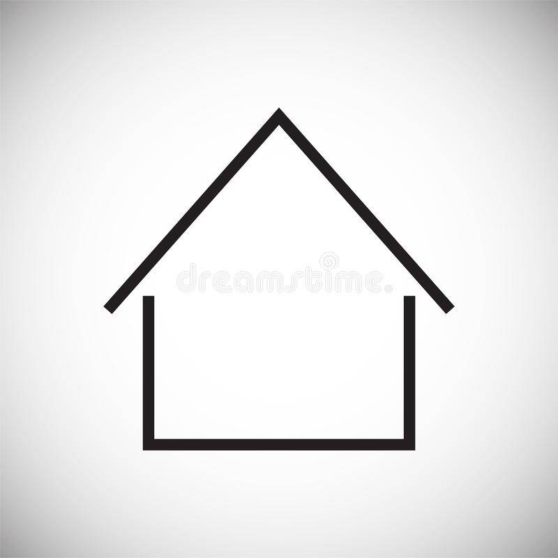 在白色背景的家庭象图表和网络设计的,现代简单的传染媒介标志 背景蓝色颜色概念互联网 网站的时髦标志 皇族释放例证