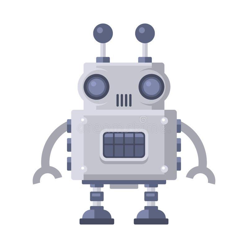 在白色背景的小说机器人 向量 皇族释放例证