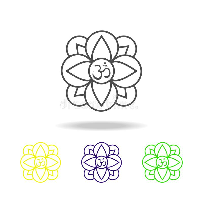 在白色背景的屠妖节花植物印度教宗教信仰色的象 屠妖节印度节日印度假日元素为 向量例证