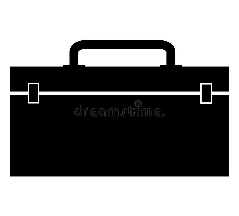 在白色背景的工具箱象 平的样式 您的网站设计的工具箱象,商标,应用程序,UI 建筑工具箱标志 库存例证