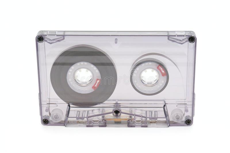 在白色背景的录音磁带 免版税库存照片