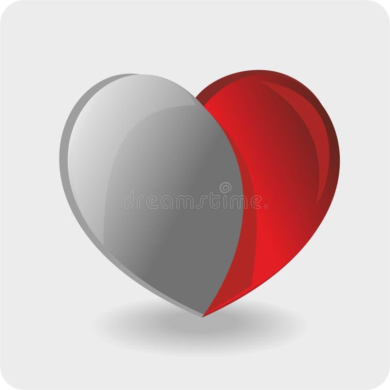 在白色背景的心脏。情人节 向量例证