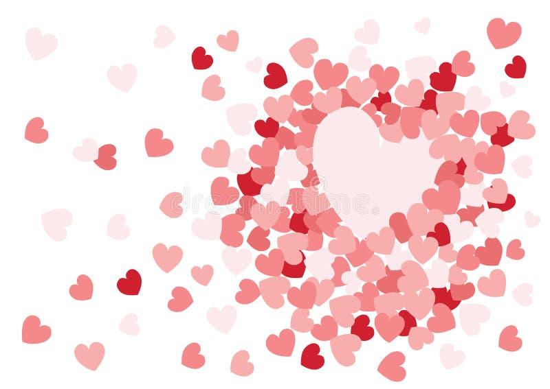 在白色背景的心脏桃红色设计设计 向量例证