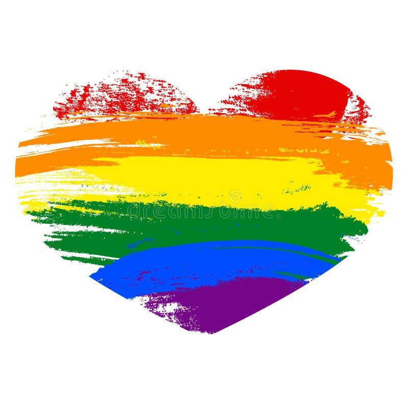 同性彩虹壁纸_在白色背景的心脏象 彩虹心脏用手