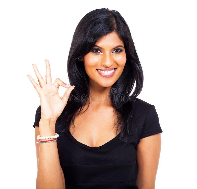 妇女好手标志 免版税图库摄影