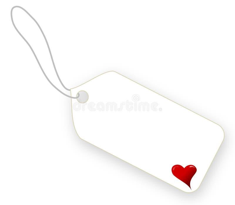 在白色背景的情人节白色标签 免版税库存图片