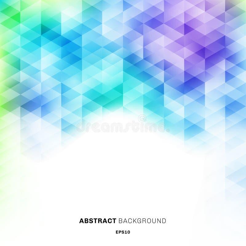 在白色背景的抽象五颜六色的六角形样式与您的文本的空间 创造性的设计模板明亮的梯度颜色 库存例证