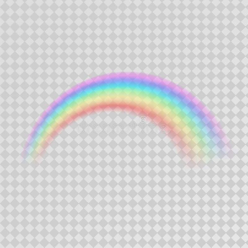 在白色背景的抽象五颜六色的彩虹模板 皇族释放例证