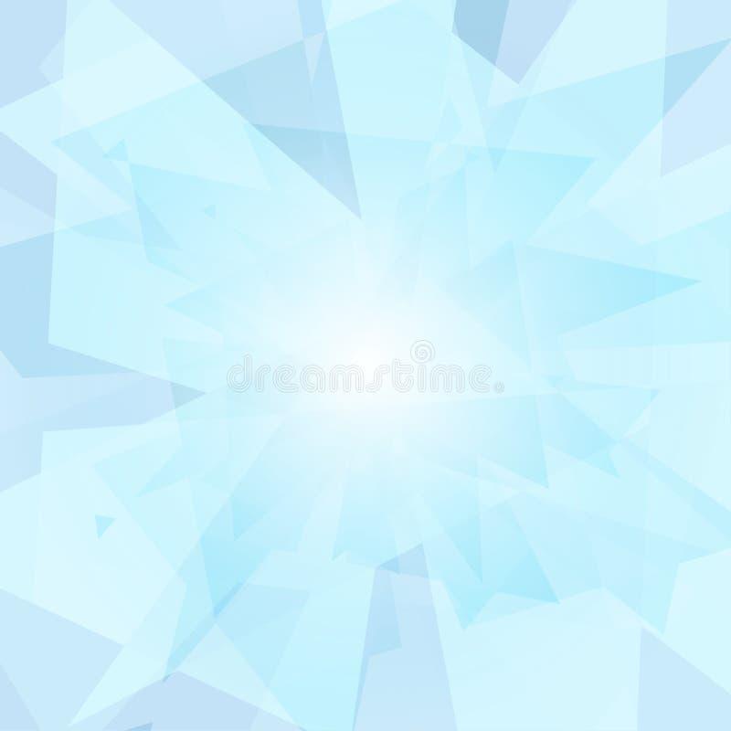在白色背景的抽象现代蓝色对角交叠与柔光 皇族释放例证