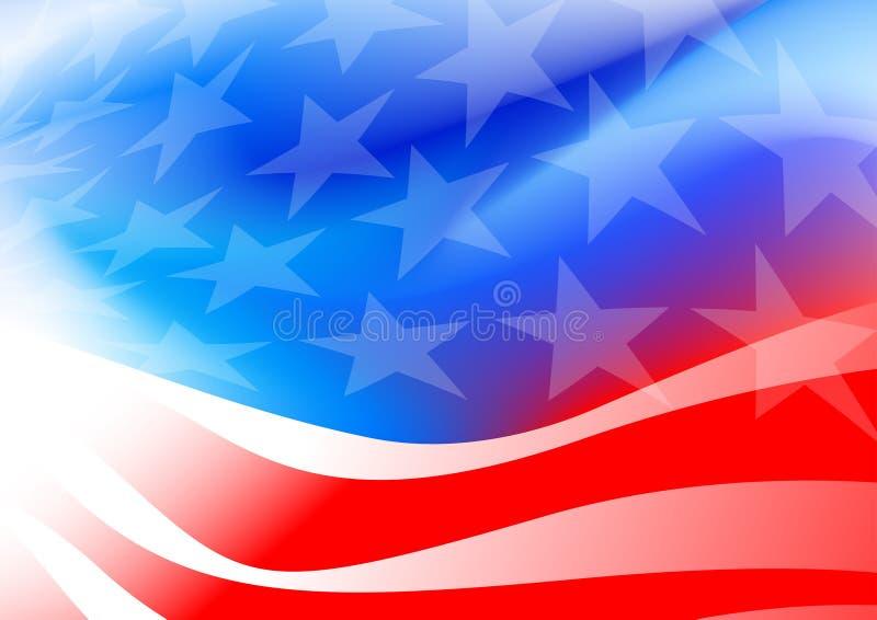 在白色背景的抽象美国国旗 向量例证