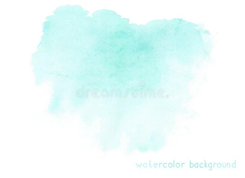 在白色背景的抽象软的水彩 库存例证