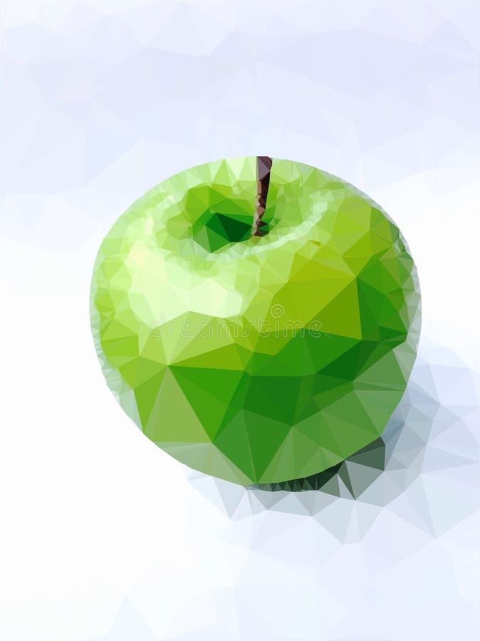 在白色背景的抽象绿色苹果 免版税库存照片