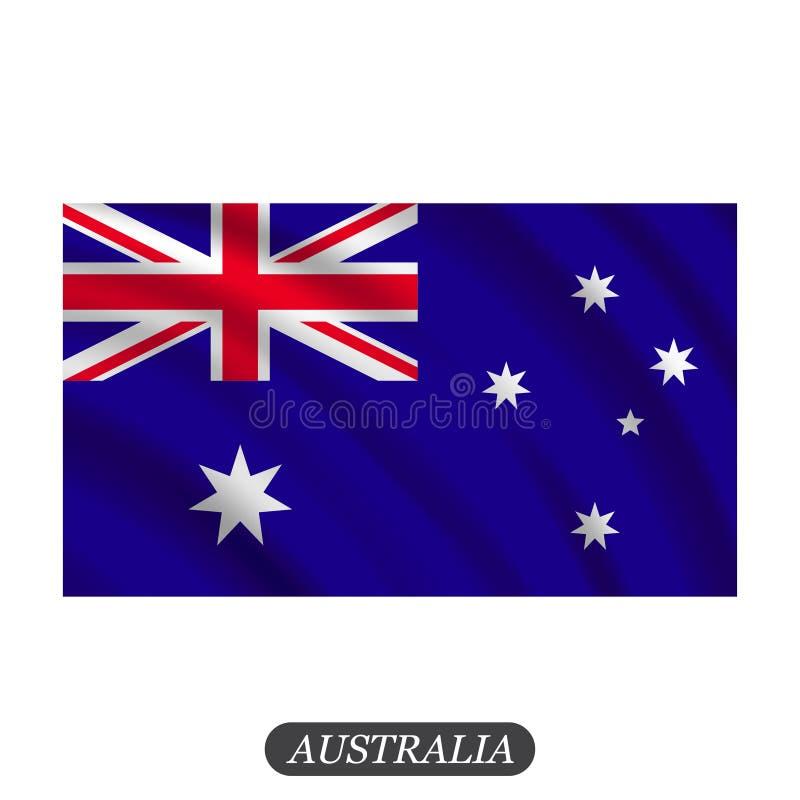 在白色背景的挥动的澳大利亚旗子 也corel凹道例证向量 库存例证