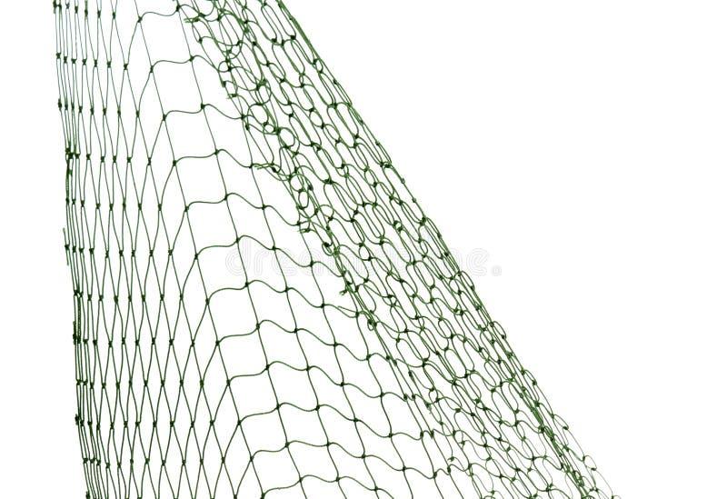 在白色背景的捕鱼网 免版税库存照片