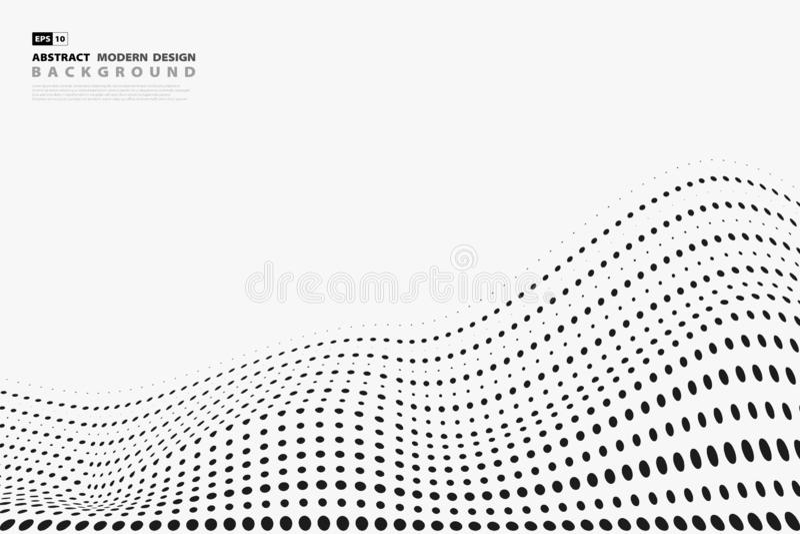在白色背景的摘要黑半音光点图形设计盖子 r 皇族释放例证