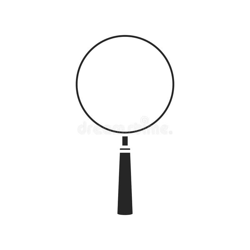 在白色背景的放大镜象,任何场合的 库存例证