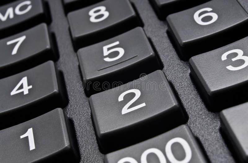 在白色背景的数字式计算器 免版税图库摄影