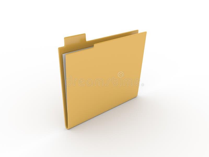 在白色背景的文件夹 库存照片