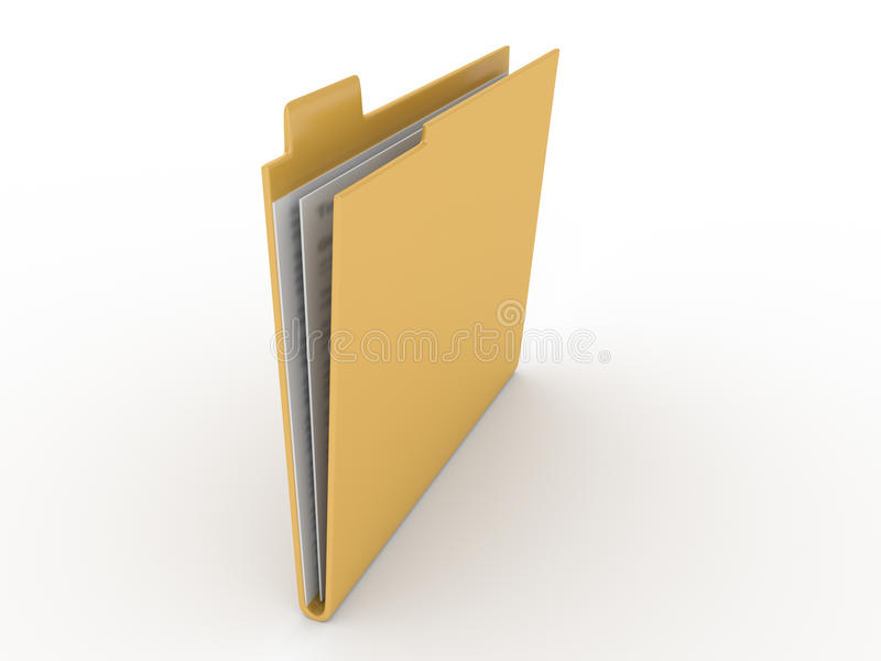 在白色背景的文件夹 图库摄影