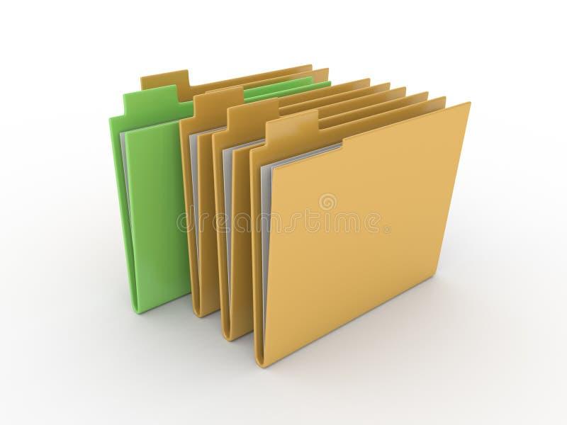 在白色背景的文件夹 库存图片