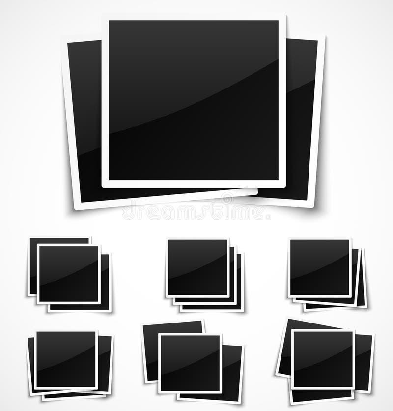 方形的空的照片框架 皇族释放例证