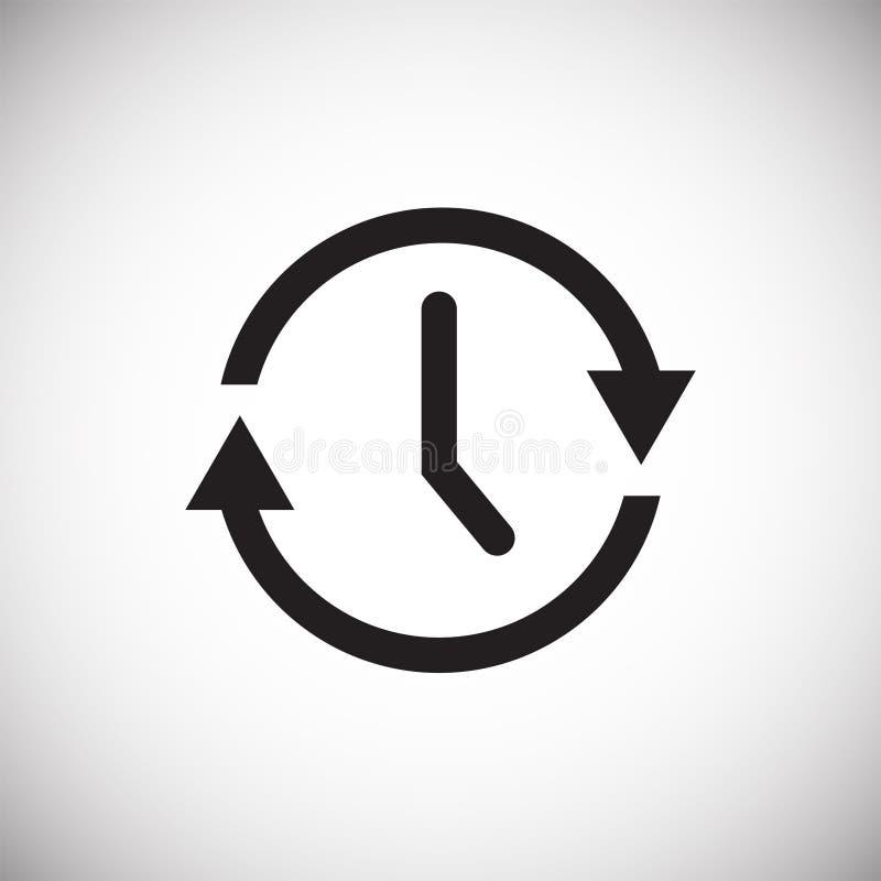 在白色背景的时间管理象图表和网络设计的,现代简单的传染媒介标志 背景蓝色颜色概念互联网 时髦标志 库存例证