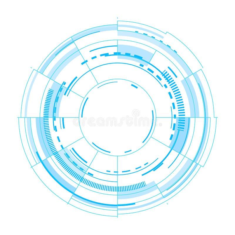 在白色背景的未来派传染媒介接口 库存例证