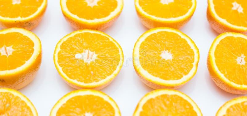 在白色背景的桔子 库存图片