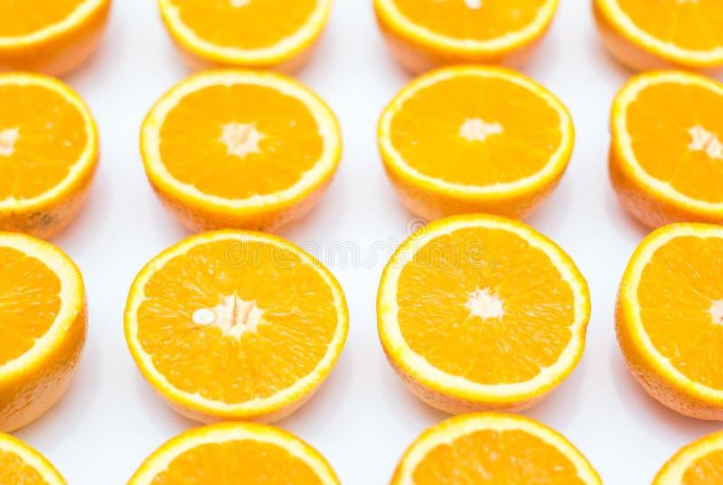 在白色背景的桔子 免版税图库摄影