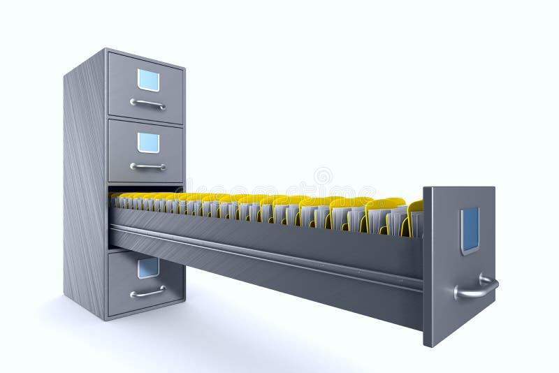 在白色背景的档案橱柜 被隔绝的3d例证 皇族释放例证