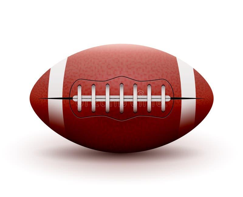 在白色背景的橄榄球球 传染媒介例证橄榄球体育比赛 竞争队 库存例证