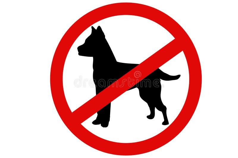 在白色背景的没有狗标志 抽象背景设计例证马赛克 皇族释放例证